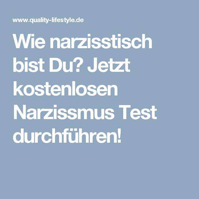 Narzisst test