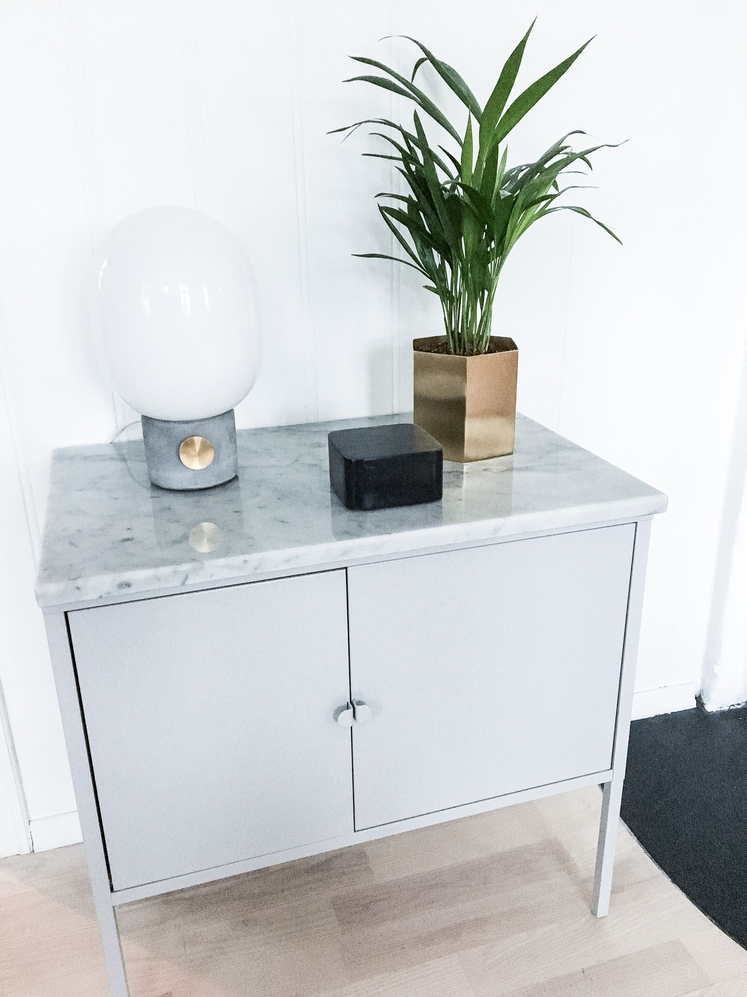 my diy ikea hack of lixhult cabinet with real marble on top photo bohemiansense ikea hack. Black Bedroom Furniture Sets. Home Design Ideas