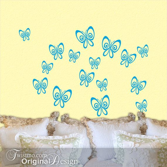 Butterfly wall decals - any color | Mila\'s Room/ Playroom ...