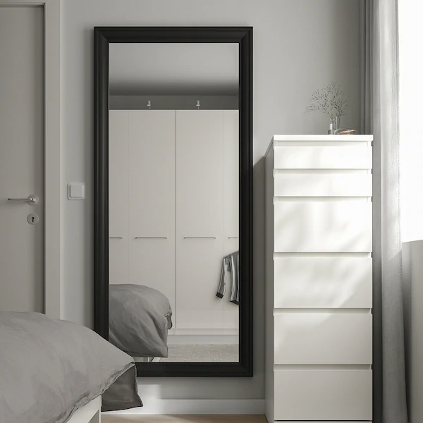 Full Length Mirror In Bedroom, White Floor Mirror Ikea
