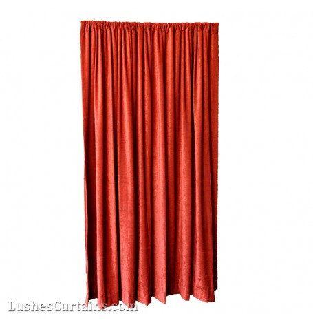 Luxury Red Velvet Curtain 120 Inch High Long Panel Fr Nfpa 701 Flame Resistant Fire Retardant Drapery Theatrical Stag Backdrop Custom Drape Velvet Curtains Red Velvet Curtains Panel Curtains