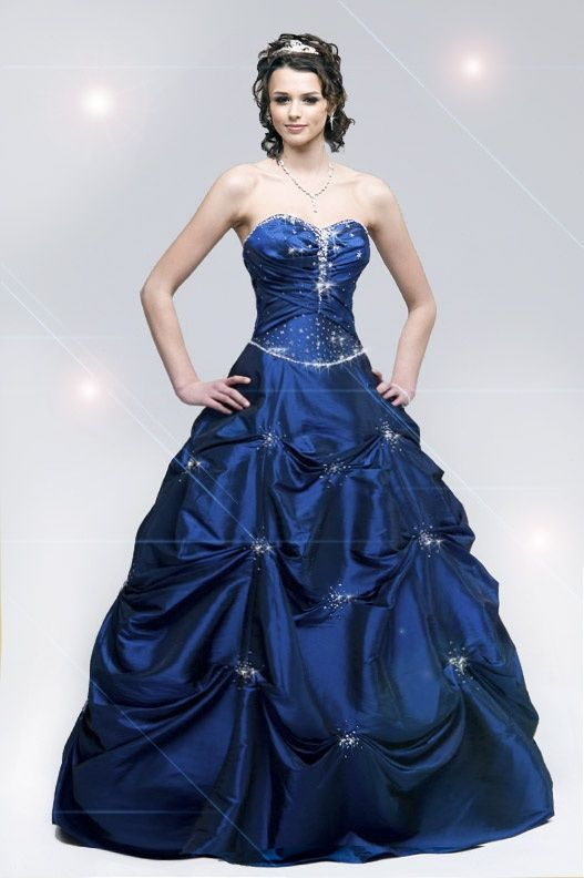 Dark Blue Masquerade Ball Dresses