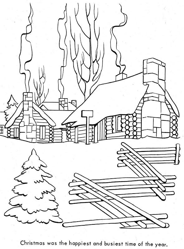Christmas In A Colonial Village Coloring BooksColouringColonialHolidays