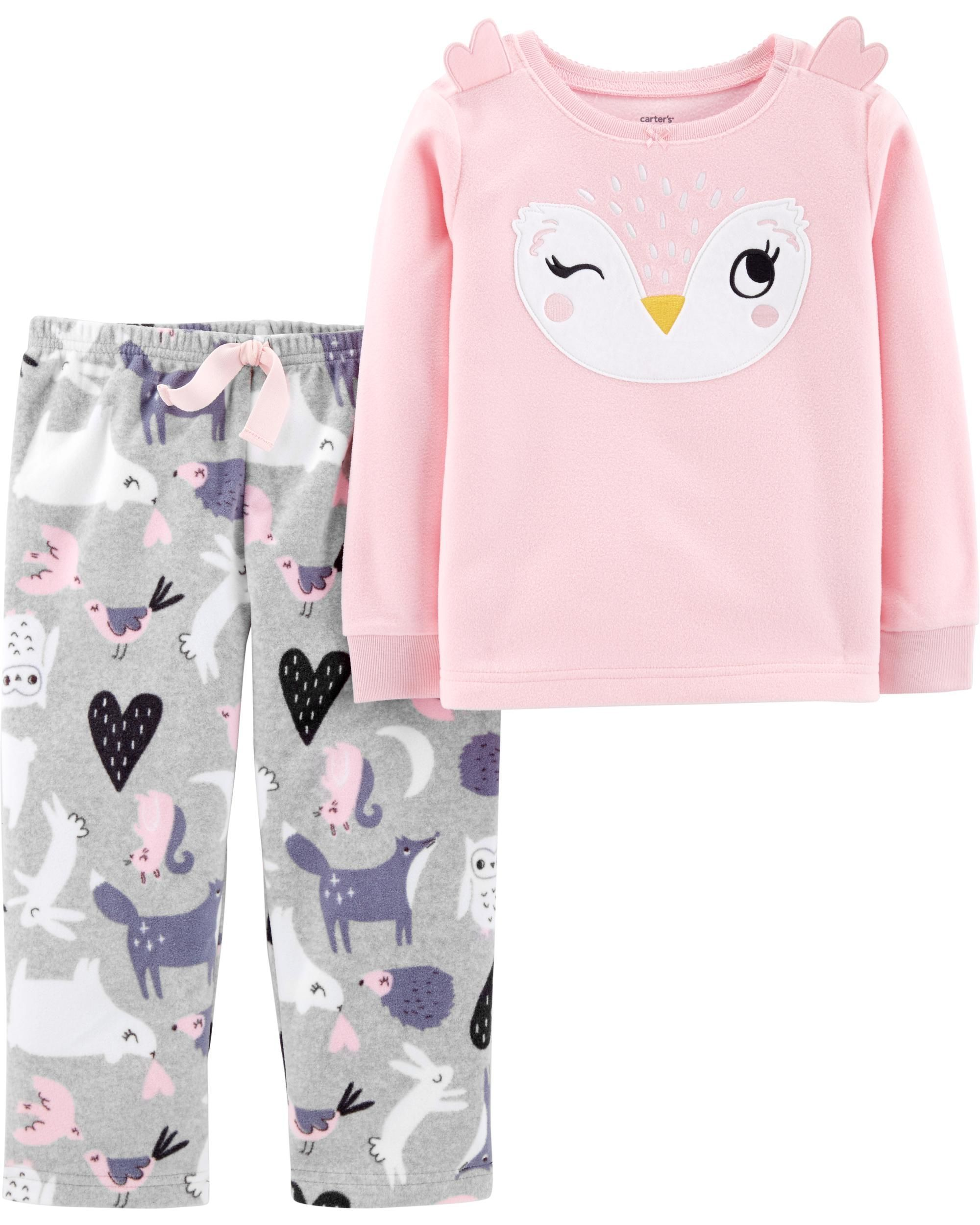 3d01f394f 2-Piece Owl Fleece PJs | Amber's Outfits Wishlist | Baby girl ...