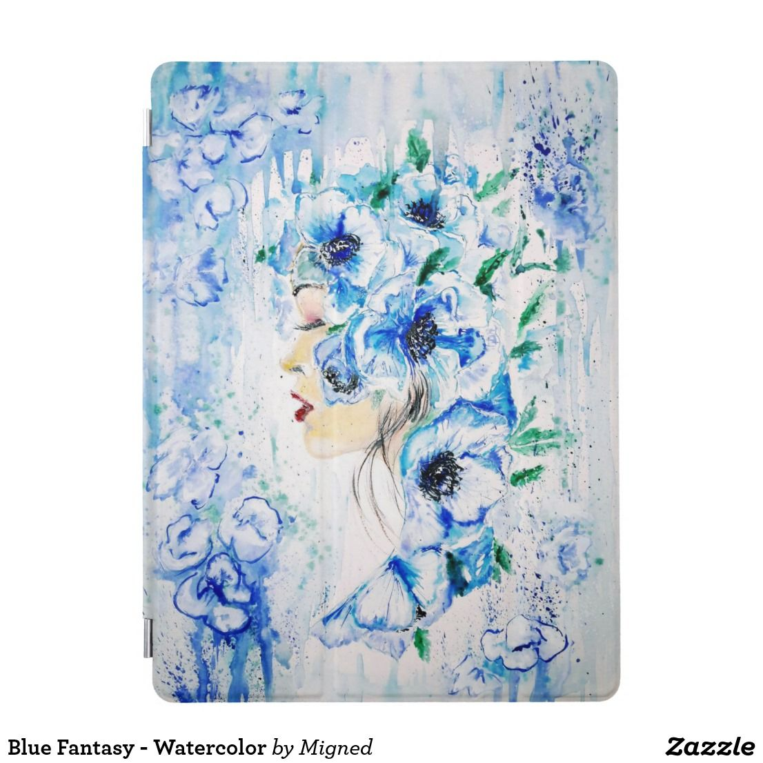 Blue Fantasy - Watercolor iPad Pro Cover | Zazzle.com