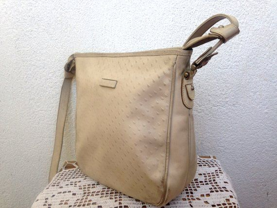 eb2f5aeb98466 Neutral Beige Crossbody Bag Made in Italy by Andre Le Sac