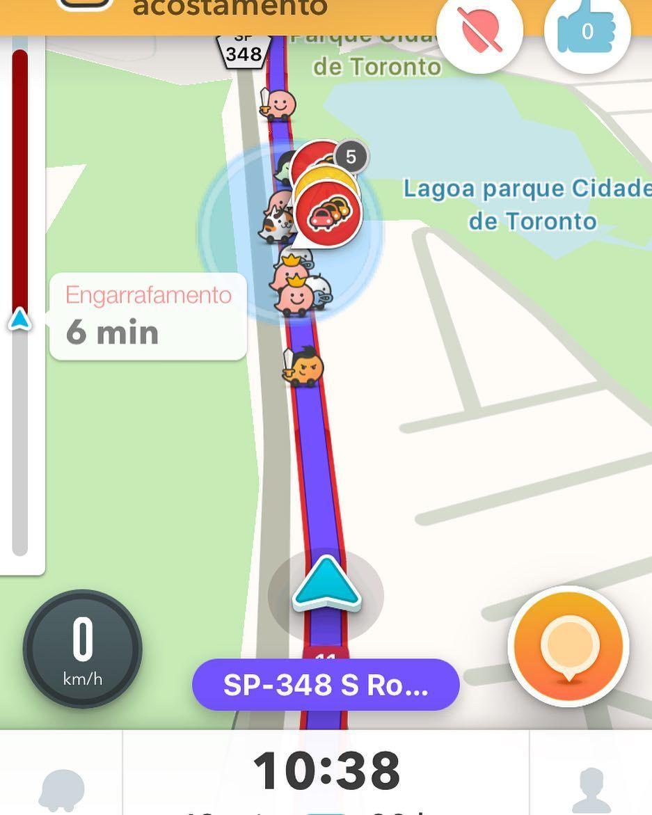 E chegamos a São Paulo.
