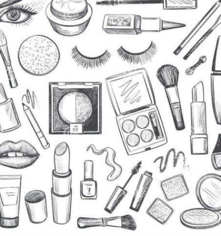 25 Excellent Photo Of Makeup Color Pages Makeup Color Pages Makeup Color Pages Make A Page How To Draw Hands Makeup Icons Makeup Drawing