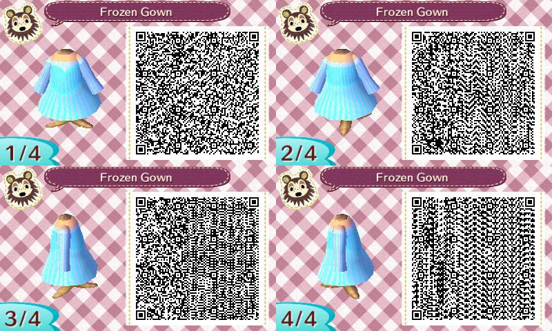 Elsa Ice Gown Dress Pro Design Animal Crossing Qr By Torresdesigns