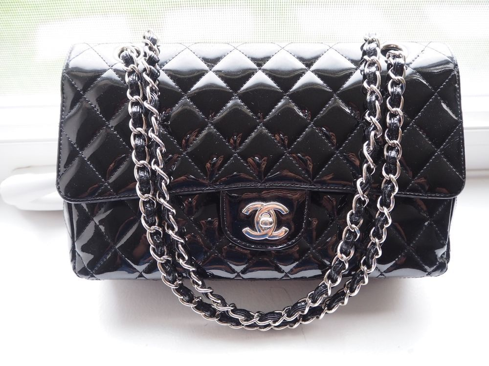Details about CHANEL Black Double Flap Jumbo Gold CC