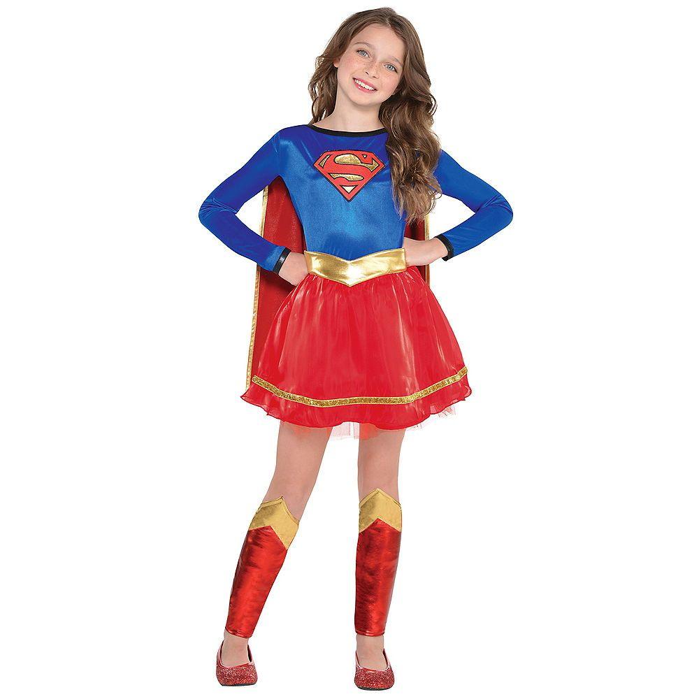 Girls Dc Deluxe Supergirl Superhero School Girl Halloween Child Costume