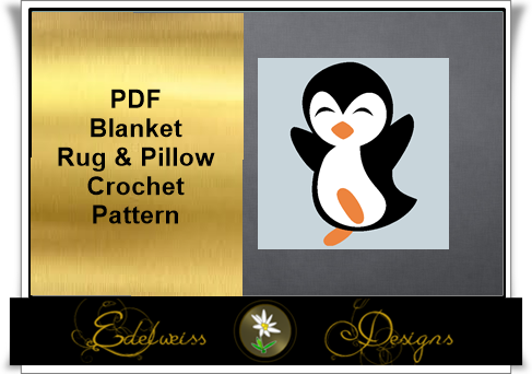 Looking for your next project? You're going to love Happy Penguin Blanket, Pillow and Rug by designer DesignsEdelweis.