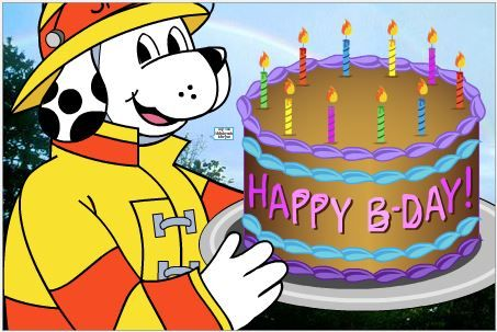 sparky the fire dog. help us wish sparky the fire dog a happy birthday today!