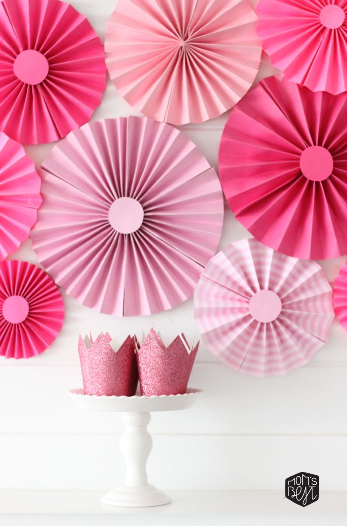Diy Paper Fan Backdrop For Under 10 From Our Diy