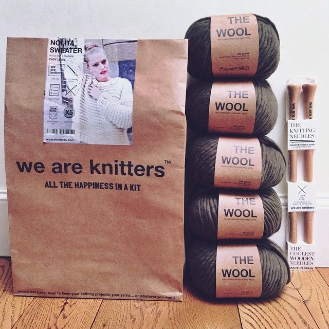 Feels like Christmas morning! So excited for an upcoming collab with @weareknitters in September I don't know how I'll resist the #NolitaSweater for the next couple of weeks. #shitthatiknit #weareknitters #collab #knittingkit #sweater #knitsweater #learntoknit #olivegreen #instaknit #knitaholic #knittersofinstagram #knitting #knitwear #branding #packaging #spain #boston #wool #madrid #chunkysweater #chunkyknits
