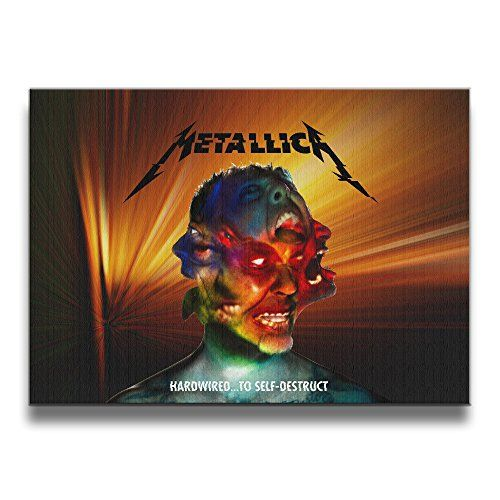 XJBD Metallica Hardwired To Self-Destruct 1620 Inch Solid Wood Office Gallery Borderless Frame Photos