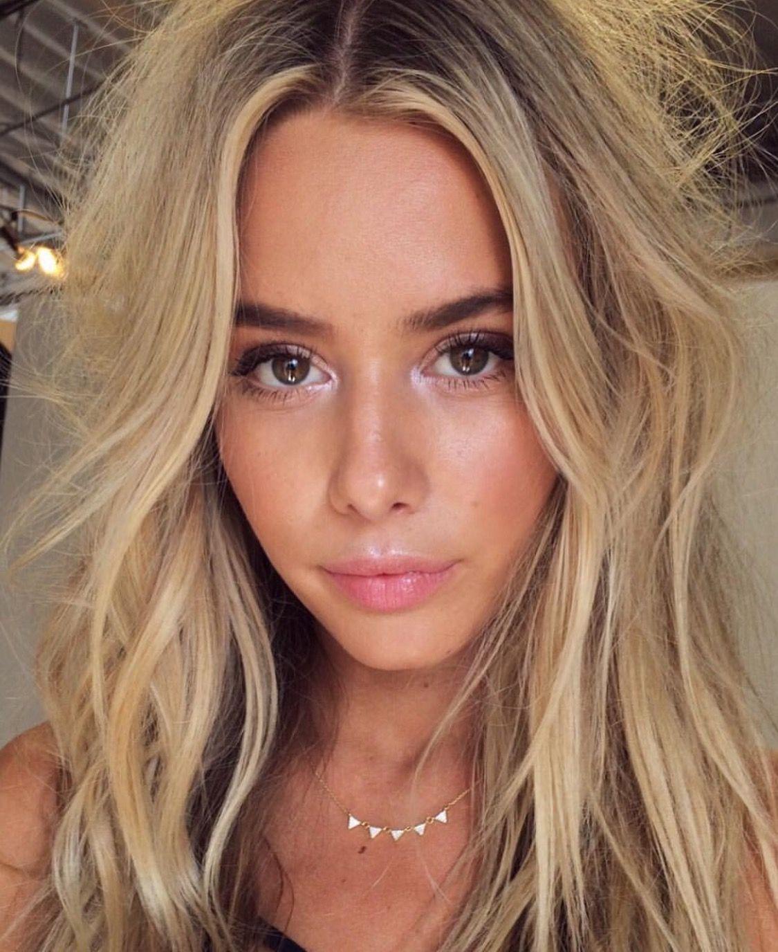 Beautiful skin, fresh and glowy makeup perfect for senior