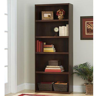 View Ameriwood Resort Cherry Finish 5 Shelf Bookcase