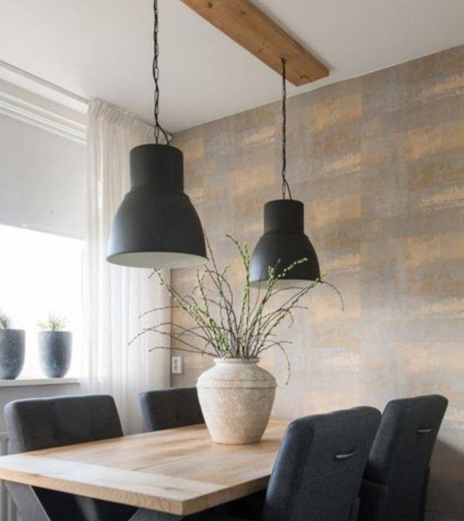 Zelfgemaakte Eettafellamp Steigerhout Ikea Hektar Ikea Lampen Lampe Lampe Esstisch
