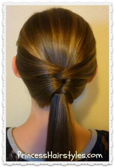 3 Quick And Easy Ponytail Hairstyles For The Mini Me Pinterest