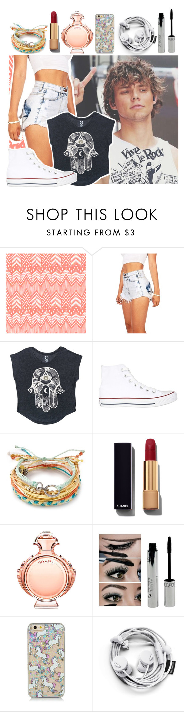 """""""ROMAN HOLIDAY // HALSEY"""" by superhannah572 ❤ liked on Polyvore featuring Billabong, Converse, Pura Vida, Chanel and Paco Rabanne"""