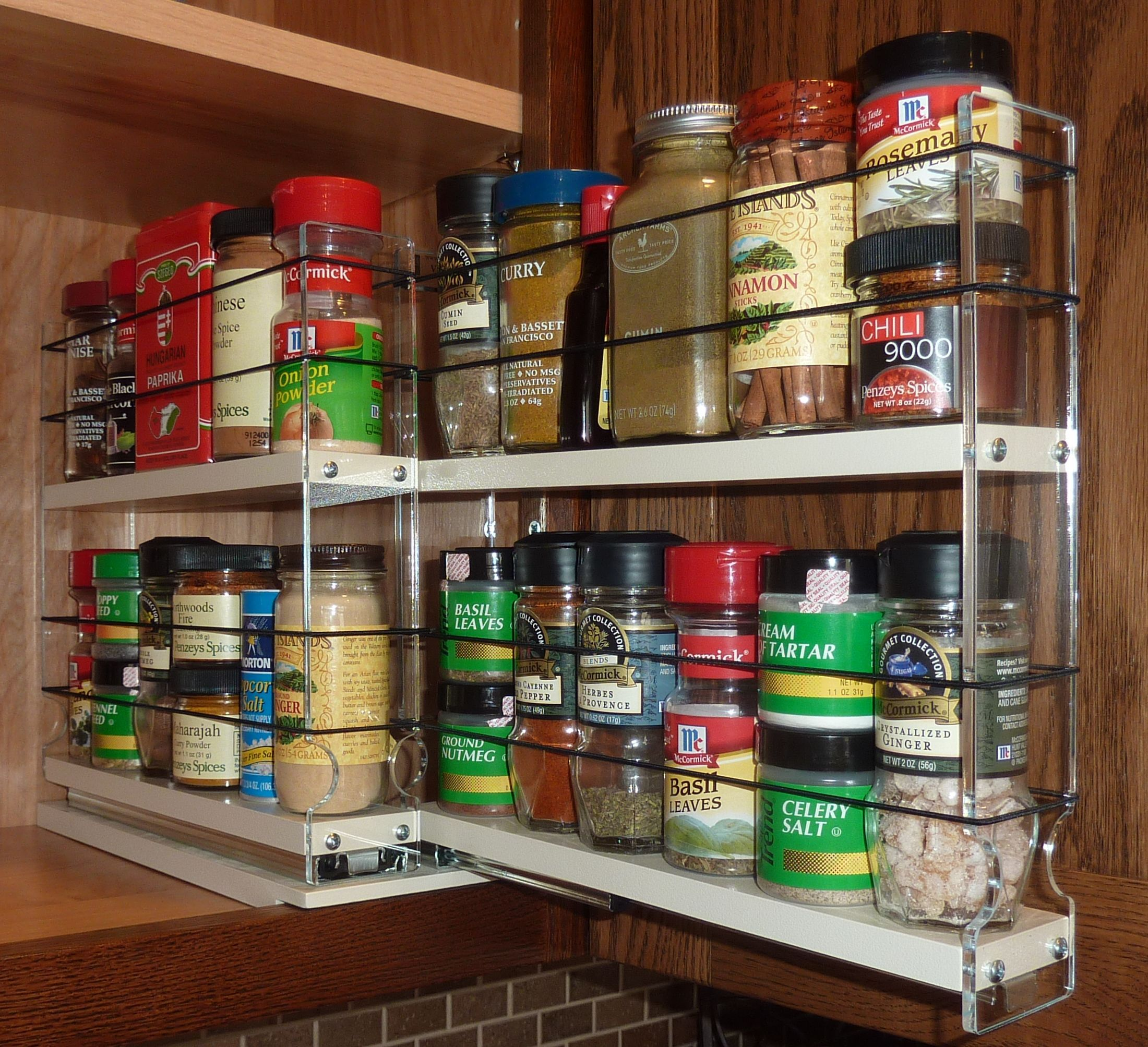 Cabinet Door Spice Racks Pull Out Spice Racks
