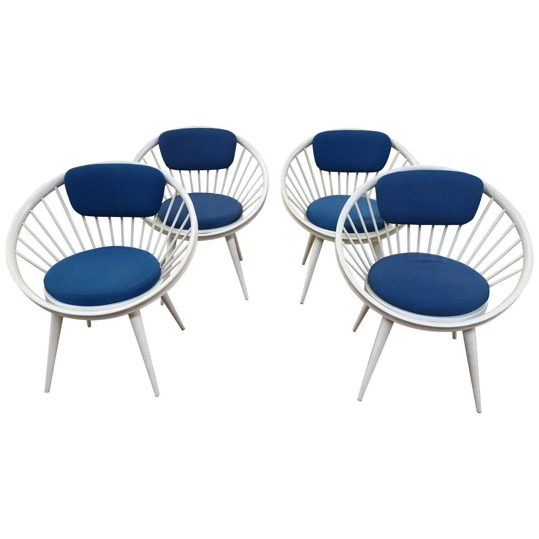 Swedish Circle Chairs by Yngve Ekstrom from 1960s Circle