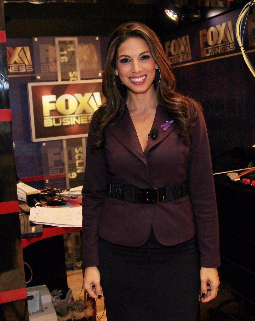 Nicole Petallides At Fox News Business Studio Fox Anchor Nicole