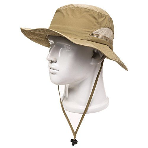 d9ab5f92198 Home Prefer Outdoor Sun Cap Fishing Hat Camouflage Bucket Mesh Boonie Hat  Snap Chin Cord Hat