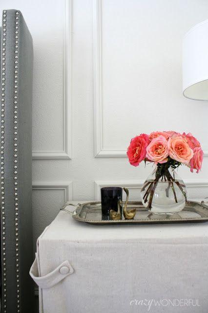DIY picture frame moulding, bedroom wall idea, decorative moulding ...