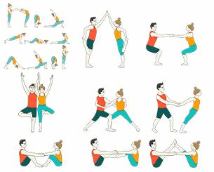 a short guide for basic yoga poses sitting  partner yoga