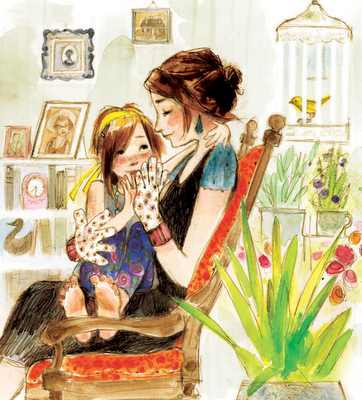 Painting Illustration Vintage Black Grandmother