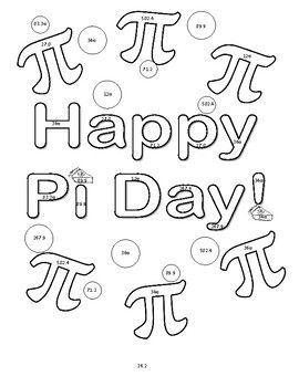 Pi Day Volume Of Cylinders Cones Spheres Color Sheet Activity