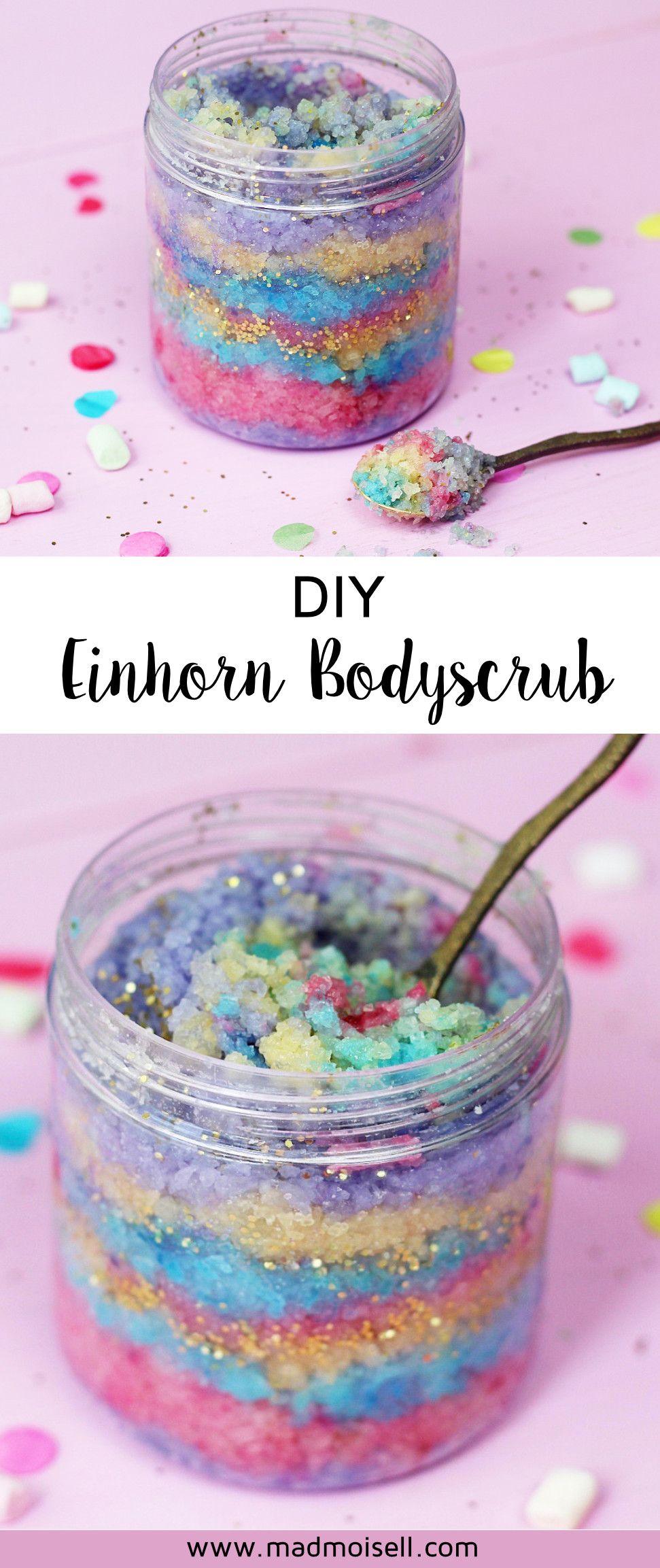 diy body scrub selber machen kreative anleitung f r einhorn fans body scrubs unicorns and diys. Black Bedroom Furniture Sets. Home Design Ideas