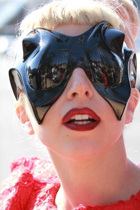 cefba0b2e050cc Lady Gaga - Feb. 2011 Alien sunglasses by Mugler with Nazir Mashar ...