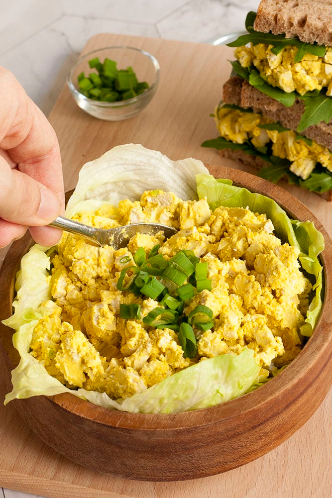 Healthy Vegan Egg Salad In 15 Minutes My Pure Plants In 2020 Vegan Eggs Healthy Vegan Vegan Meal Plans