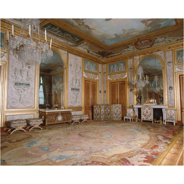 """Marie Antoinette's Gambling Room at Royal Palace of Fontainebleau """"Despite her initial popularity, a growing number of the population eventually came to dislike her"""" (wikipedia.org)"""