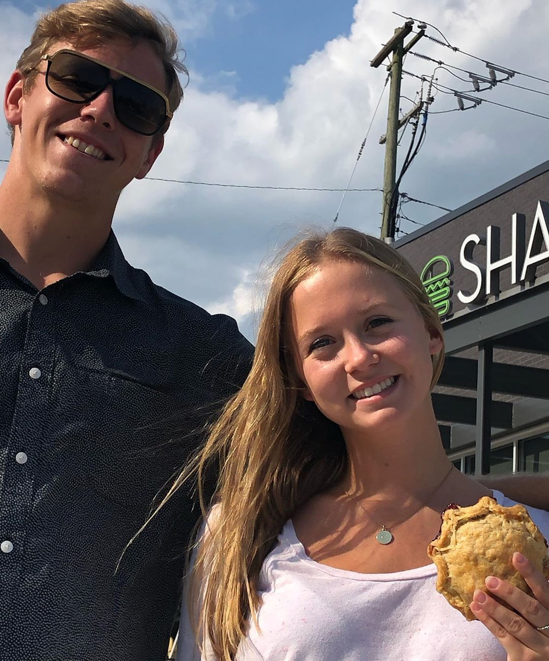 Hop over to   @shakeshack   Virginia Beach and grab your Pie Oh My.    #pie     #tarts     #eatpie     #shakeshack     #pieohmy     #desserts     #icecream     #burgers     #love     #red     #sweets     #august     #summer &