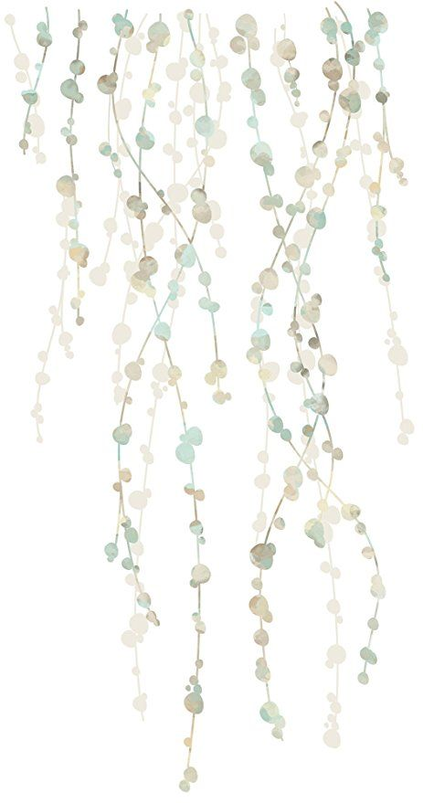 RoomMates RMK2394SCS Hanging Vine Watercolor Peel And Stick Wall Decals,Multicolor