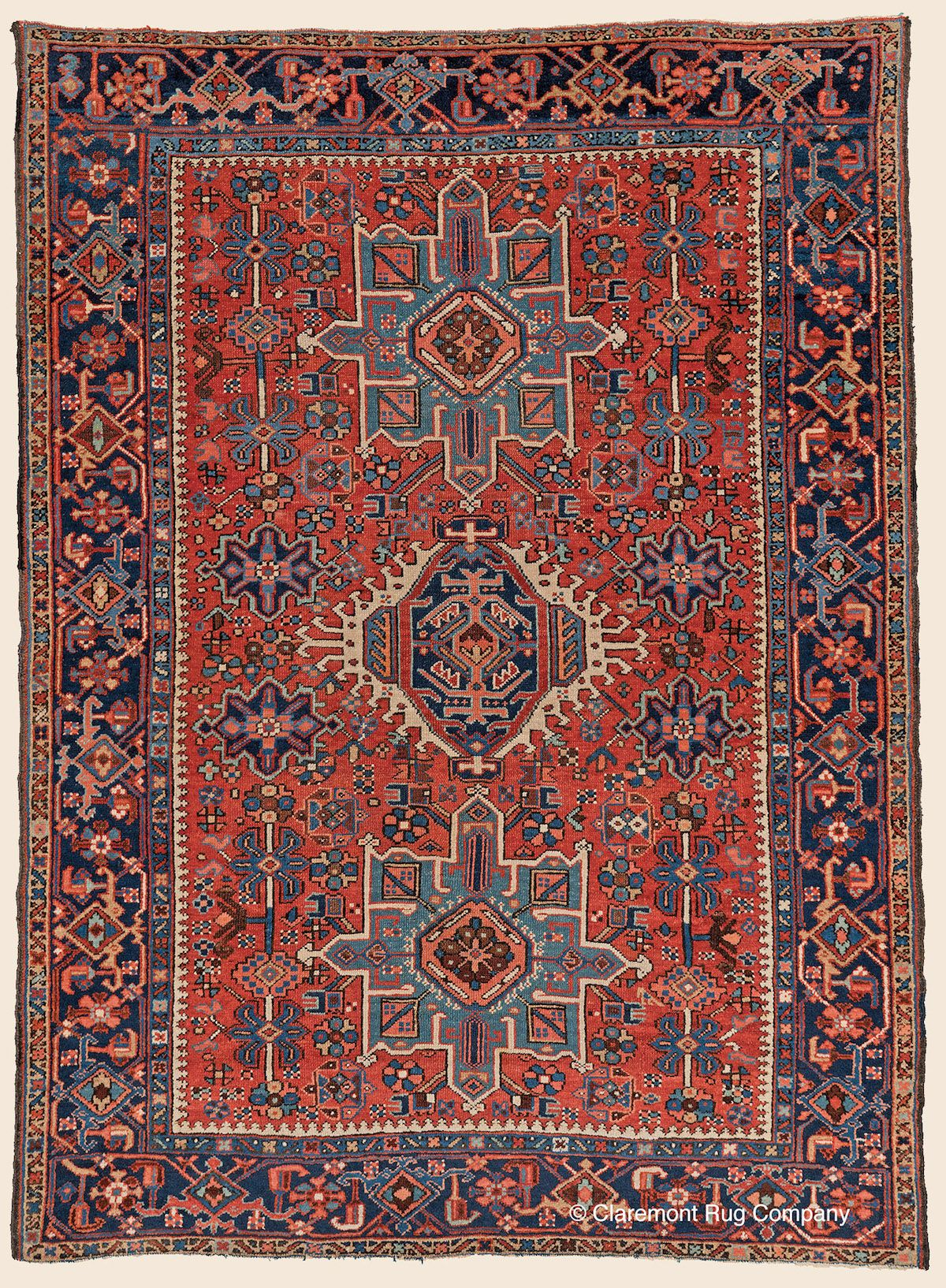 Karaja 4 10 X 6 6 Circa 1900 Price 6 500 Northwest Persian Antique Rug Claremont Rug Company Rugs Claremont Rug Company Antique Rugs