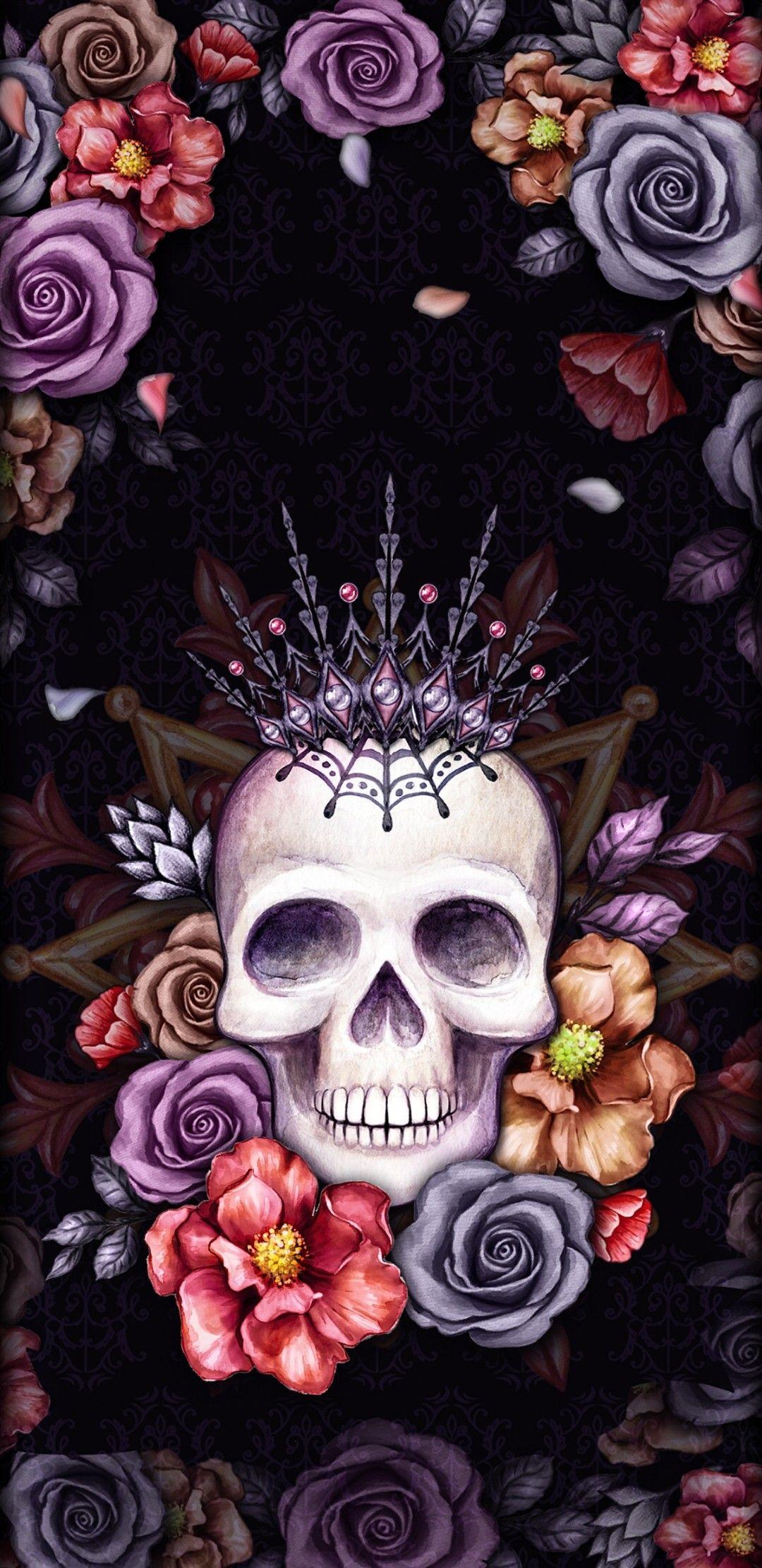 Wallpaper Lockscreen Iphone Android Sugar Skull Wallpaper Sugar Skull Artwork Skull Art