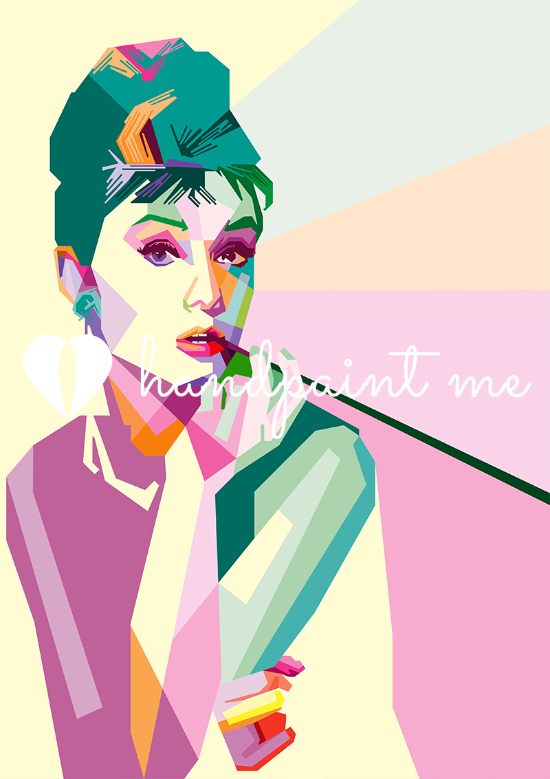 46b5abeb7e97 Audrey Hepburn Pop Art Canvas Printon a box canvas frame. Available in a  range of sizes. Visit our pop art shop for more pop art canvas prints