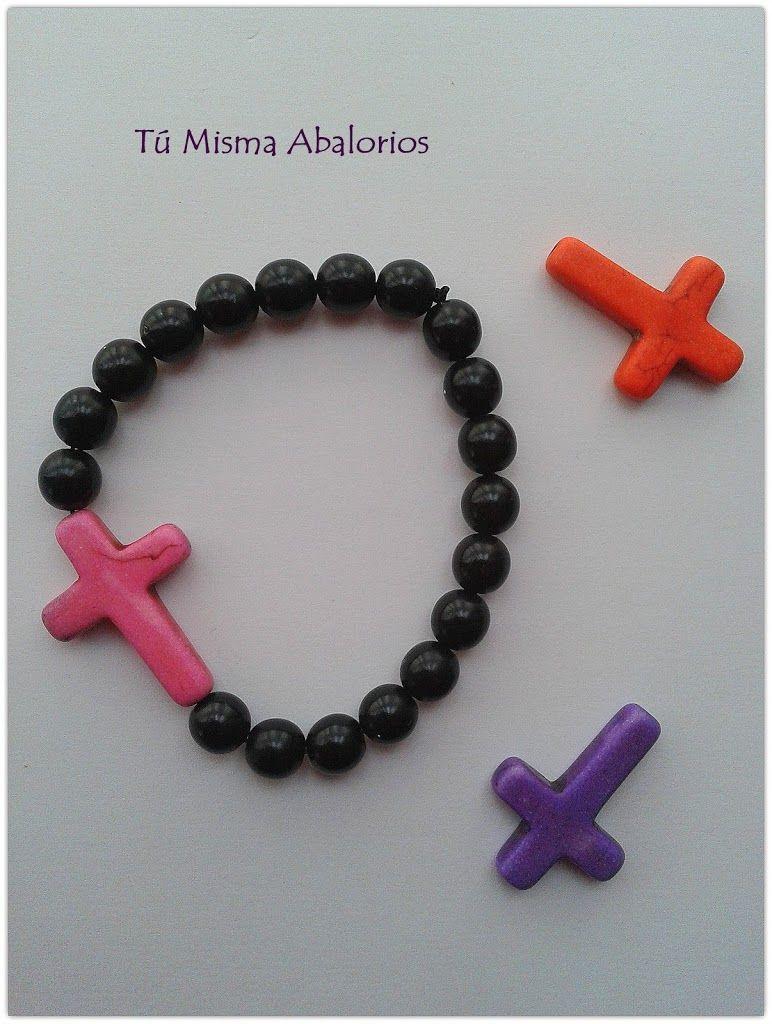 Pulsera estilo rosario. www.tumismaabalorios.blogspot.com