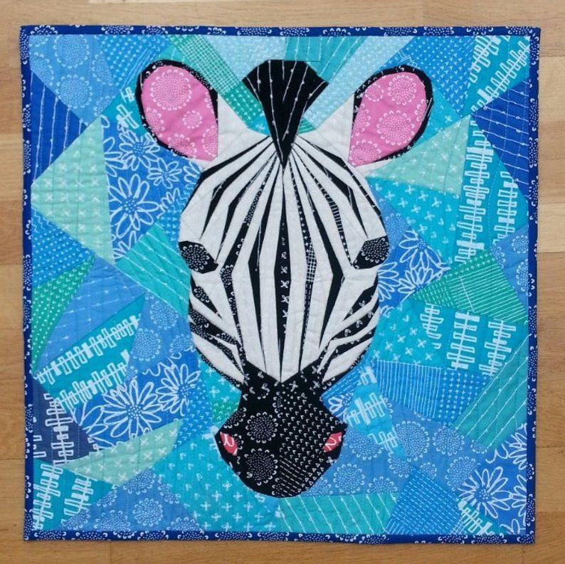 20 Inch Zebra Foundation Paper Pieced Quilt Pattern Paper Pieced Quilt Patterns Foundation Paper Piecing Quilt Patterns