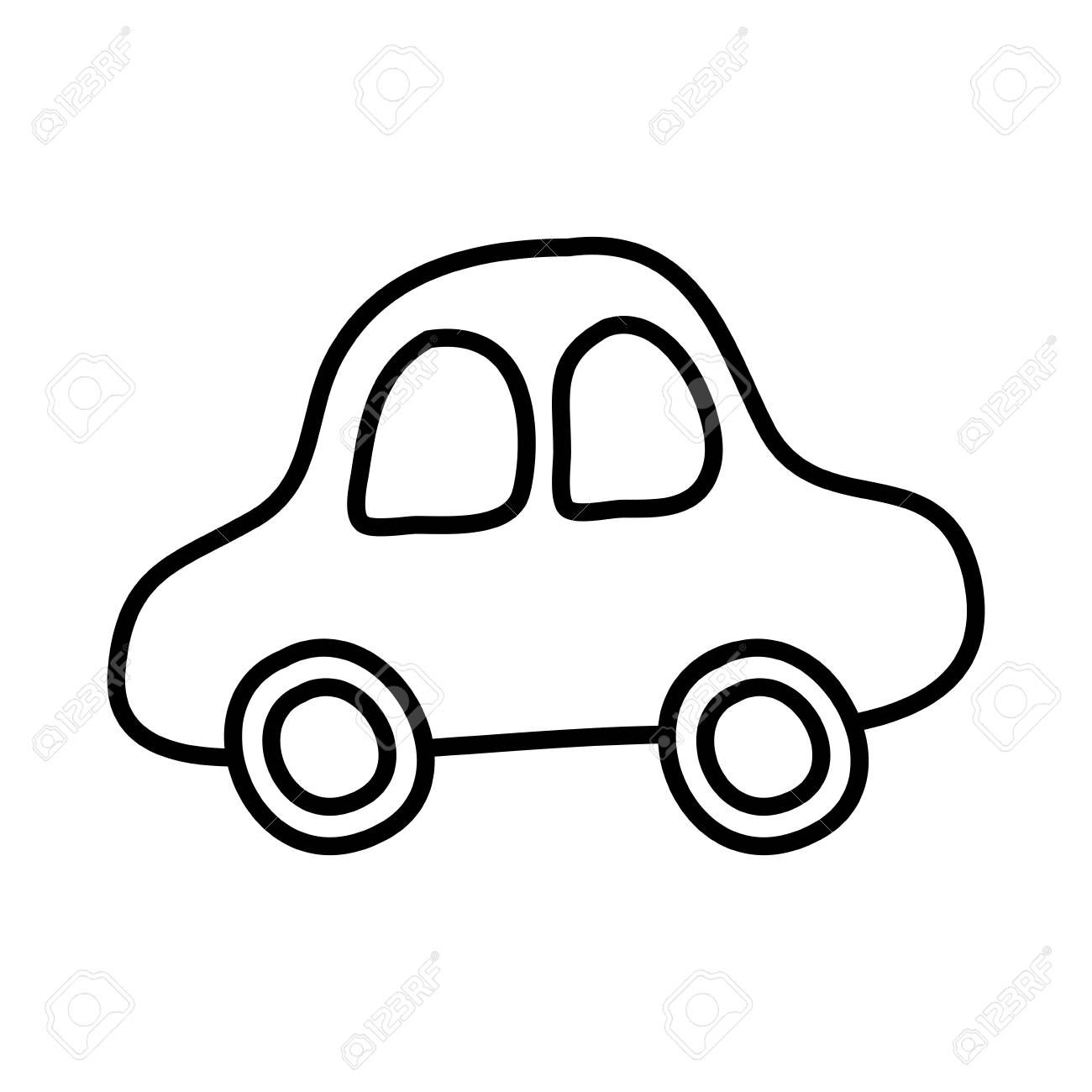 Cute Car Drawing Icon Vector Illustration Design Ad Drawing