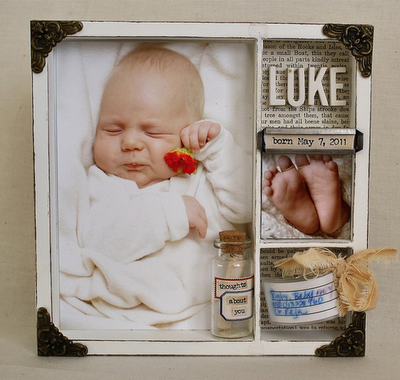 baby gift shadow box