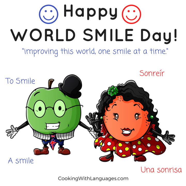 Today is WORLD SMILE DAY World Smile Day is celebrated