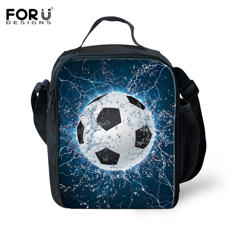 Forudesigns boys lunch bag cool ball printing shoulder