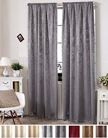 EUGAD VH5888dg , Gardinen Vorhang blickdicht mit Kräuselband - vorhänge für wohnzimmer