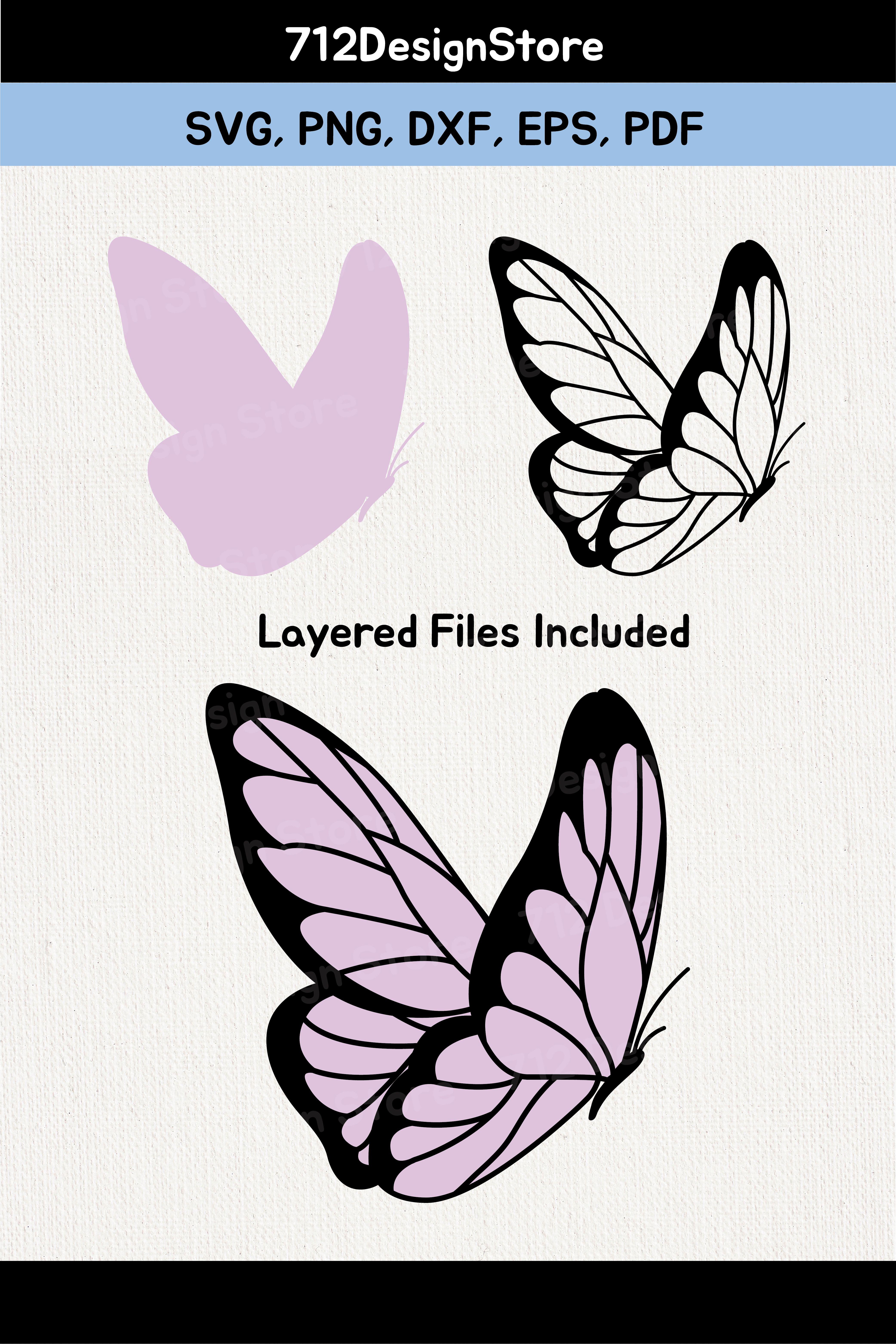 Cricut Butterfly Svg : cricut, butterfly, Layered, Butterfly, Files, Cricut, Butterflies
